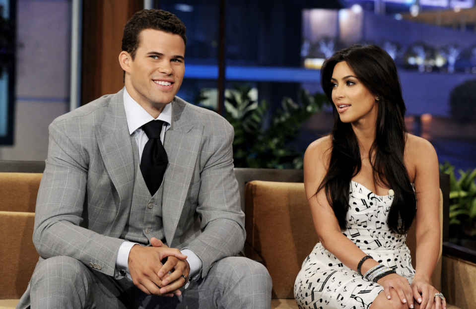 <p>Who can forget Kim Kardashian's short-lived marriage to NBA basketball player Kris Humphries? The reality star's wedding preparations and the 20 August ceremony itself were chronicled in a two-part TV special, which later aired on US channel E!. However, she filed for divorce from Humphries on 31 October – less than three months after the ceremony itself. [Photo: Getty] </p>