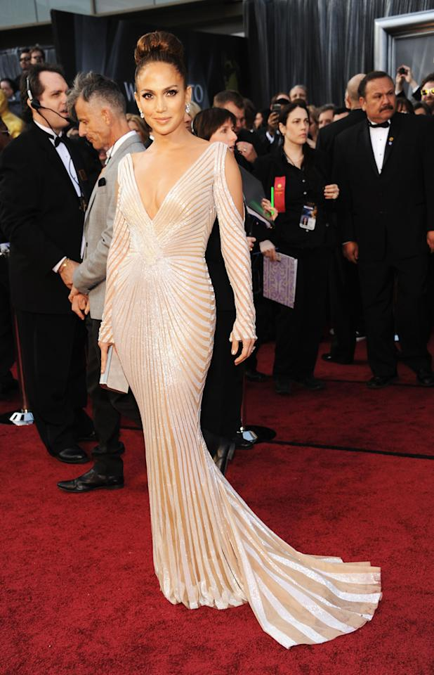Jennifer Lopez arrives at the 84th Annual Academy Awards in Hollywood, CA.
