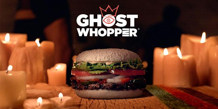 The Ghost Whopper will be available at 10 select restaurants beginning October 24.