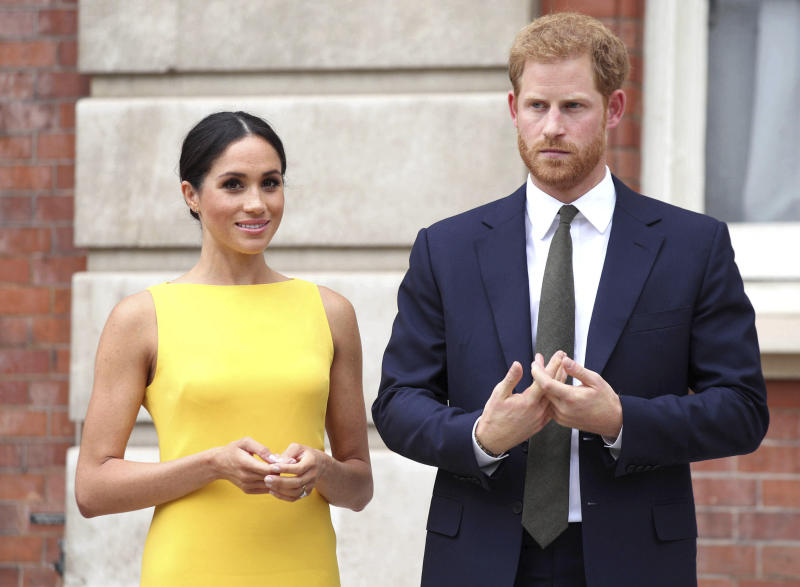 "February 20th 2020 - Prince Harry and Duchess Meghan will formally step down as senior royals on March 31st 2020 as the agreement reached between Queen Elizabeth II and the couple becomes official. - January 20th 2020 - Buckingham Palace has announced that Prince Harry and Duchess Meghan will no longer use ""royal highness"" titles and will not receive public money for their royal duties. Additionally, as part of the terms of surrendering their royal responsibilities, Harry and Meghan will repay the $3.1 million cost of taxpayers' money that was spent renovating Frogmore Cottage - their home near Windsor Castle. - January 9th 2020 - Prince Harry The Duke of Sussex and Duchess Meghan of Sussex intend to step back their duties and responsibilities as senior members of the British Royal Family. - File Photo by: zz/KGC-375/STAR MAX/IPx 2018 7/5/18 Prince Harry The Duke of Sussex and Meghan Markle The Duchess of Sussex attend the Your Commonwealth Youth Challenge reception at Marlborough House. (London, England, UK)"
