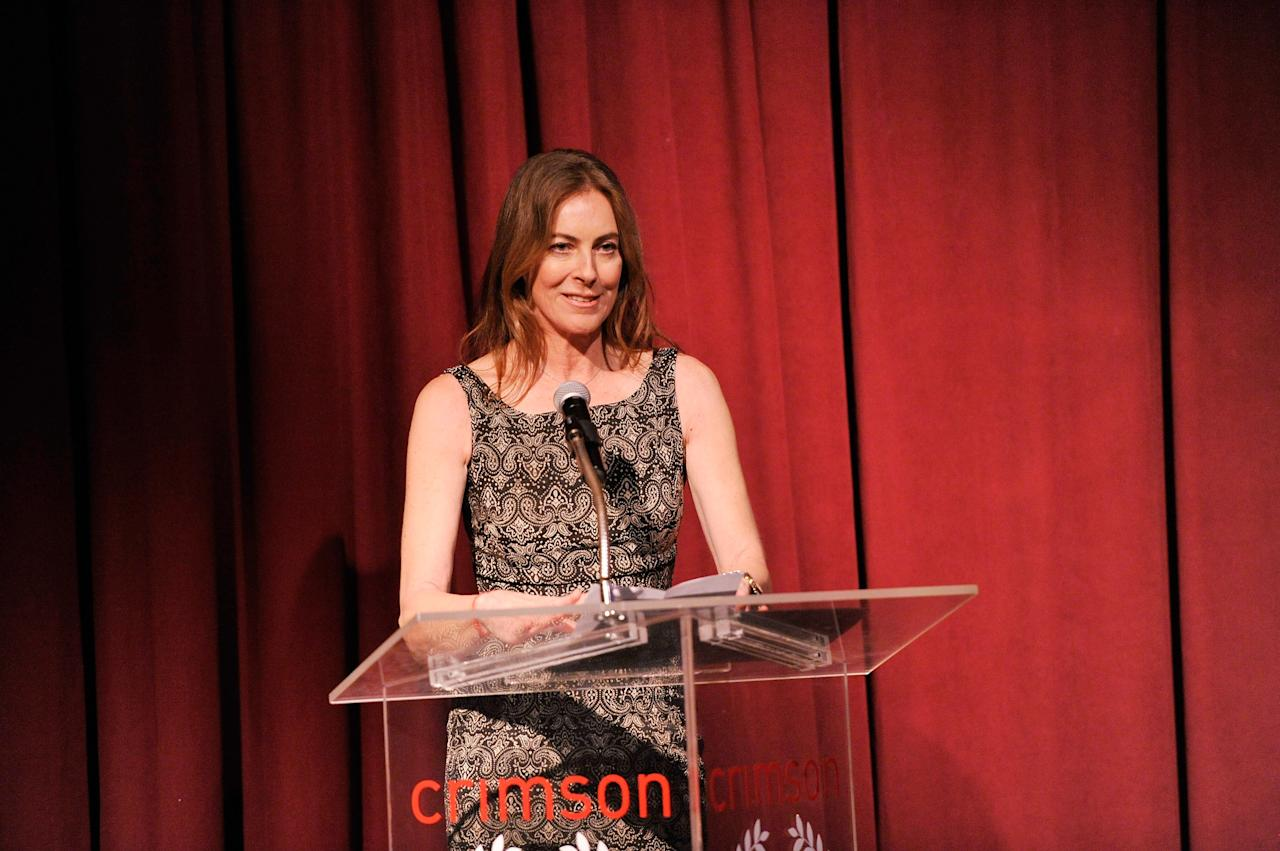 NEW YORK, NY - JANUARY 07:  Filmmaker Kathryn Bigelow speaks onstage at the 2012 New York Film Critics Circle Awards at Crimson on January 7, 2013 in New York City.  (Photo by Stephen Lovekin/Getty Images)