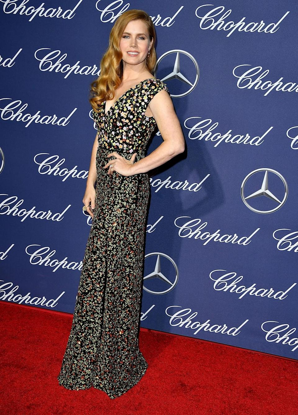 <p>The actress picked out an Altuzarra dress for the occasion. [Photo: Getty] </p>