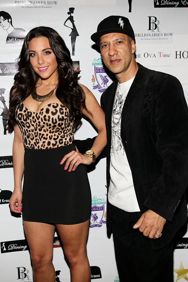 """Jenna Russo and Armando attend the """"<a target=""""_blank"""" href=""""http://tv.yahoo.com/bad-girls-club/show/40081"""">Bad Girls Club</a>"""" official reunion party at Kamasutra Lounge on April 27, 2012 in New York City."""