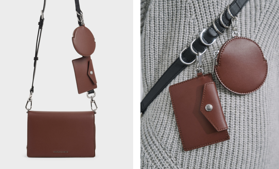 PHOTO: Charles & Keith. Multi-Pouch Crossbody Bag