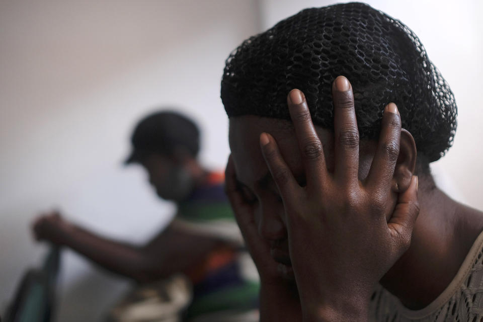 A woman attends Sunday Mass in Port-au-Prince, Haiti, Sunday, July 11, 2021, four days after President Jovenel Moise was assassinated in his home. (AP Photo / Matias Delacroix)