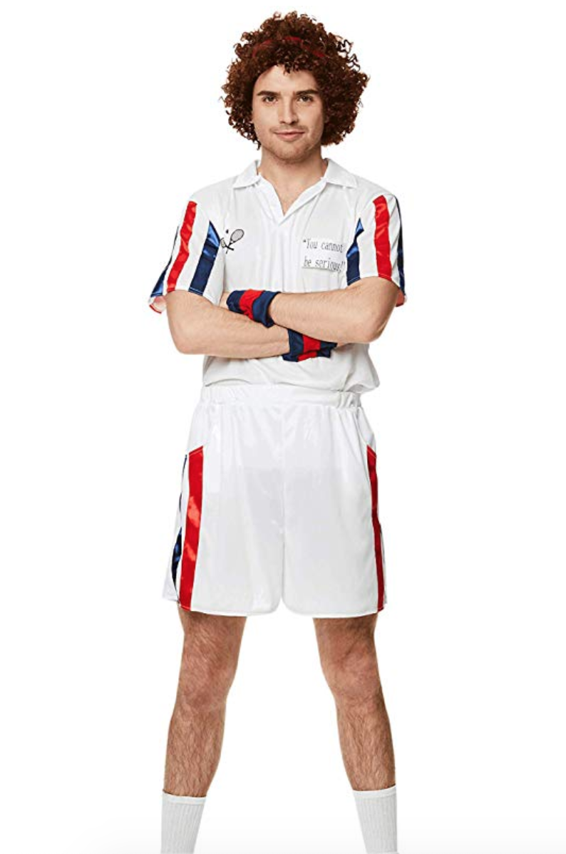 Men's 80s Tennis Player Costume