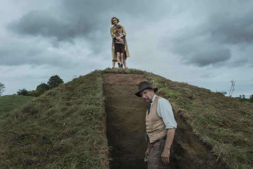 """<em><strong>The Dig</strong></em> <strong><em>(2021)</em></strong><br> <br>Starring Ralph Fiennes, Carey Mulligan, Lily James and Johnny Flynn, <em>The Dig</em> is perhaps January's most star-studded film<em>. </em>Based on John Preston's novel of the same name, the story reimagines the 1939 excavation of an Anglo-Saxon ship at Sutton Hoo in Suffolk. Set just as England prepares for war against Germany, the film sees Edith Pretty (Mulligan) hire an amateur archaeologist (Fiennes) to dig up the burial mounds on her property. Once the historic importance of the discovery is determined, the team must consider its ramifications. <br><br>Available 29th January<span class=""""copyright"""">Photo Courtesy of Netflix.</span>"""