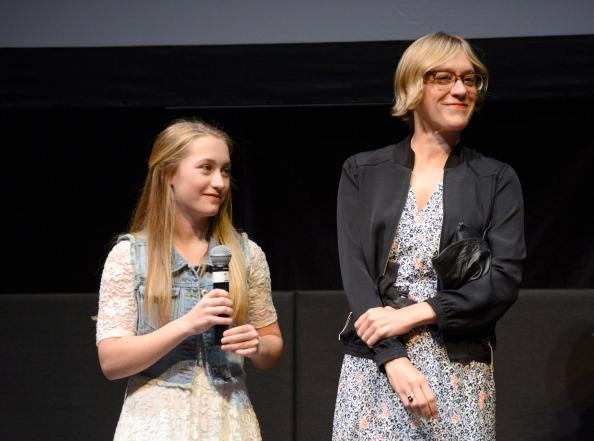 Actors Lana Green and Chloe Sevigny speak onstage at 'The Wait' Q&A during the 2013 SXSW Music, Film + Interactive Festival at Stateside Theater on March 10, 2013 in Austin, Texas.