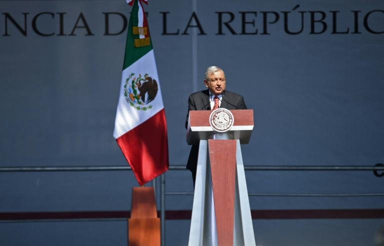 Mexican President Andres Manuel Lopez Obrador, pictured in December 2019, has offered 4,000 jobs to migrants in a caravan
