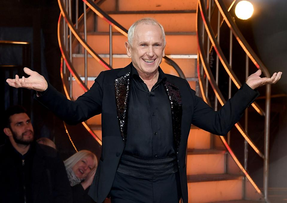 BOREHAMWOOD, ENGLAND - FEBRUARY 02:  Wayne Sleep is evicted during the 2018 Celebrity Big Brother Final at Elstree Studios on February 2, 2018 in Borehamwood, England.  (Photo by Stuart C. Wilson/Stuart C. Wilson/Getty Images)