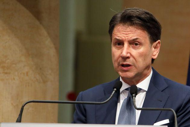 ROME, ITALY - JUNE 28,2021: Former Italian premier Giuseppe Conte during the press conference in Rome. Former Prime Minister Giuseppe Conte retired on June 28 from his role as leader of the Populist 5 Star Movement (M5S), after a split with M5S founder and comedian Beppe Grillo (Photo credit should read Marco Ravagli/Barcroft Media via Getty Images) (Photo: Barcroft Media via Getty Images)