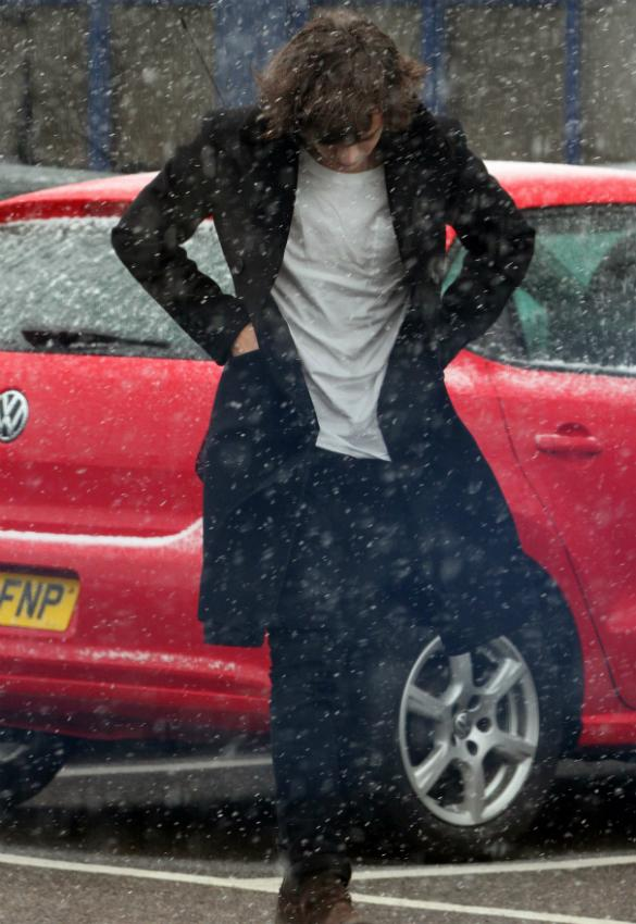 PHOTOS: Harry Styles Battles The Snow As He Heads To Rehearsals In Wakefield