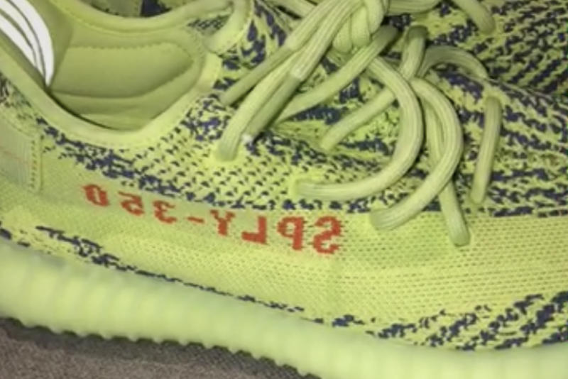 782dd3bc9 Kim Kardashian Shares a Closer Look at the Unreleased  Semi Frozen Yellow  Adidas  Yeezy Boost 350 V2