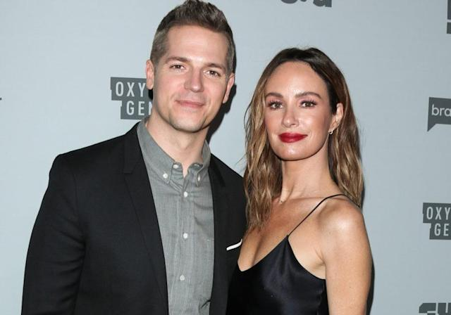 Catt Sadler and Jason Kennedy. (Photo: Getty Images)
