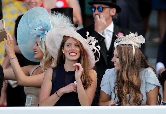 Horse Racing - Royal Ascot - Ascot Racecourse, Ascot, Britain - June 21, 2018 Racegoers look on during the 4.20 Gold Cup Action Images via Reuters/Andrew Boyers