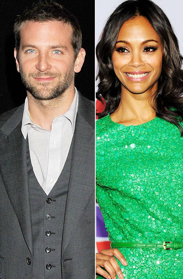 "<p class=""MsoNormal"">Talk about one super attractive couple! Zoe Saldana and Bradley Cooper have apparently turned an on-screen romance (in the upcoming flick ""The Words"") into real-life love, and were spotted smooching at a Los Angeles New Year's Eve party. In November, the ""Avatar"" actress announced that she and her fiancé, entrepreneur Keith Britton, had split after 11years, while ""The Hangover"" star and his former flame Rene Zellweger called it quits after less than two years last March. Zoe, 33, and Brad, 37, aren't wasting any time, and, according to E! news sources, have already told friends and family that they're a couple and have been planning a ski trip together. </p>"