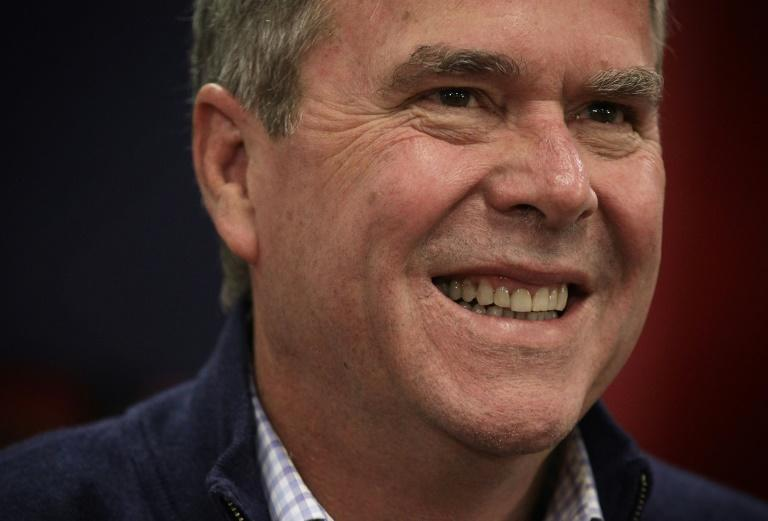 Jeb Bush waits to be introduced during a campaign event in 2016