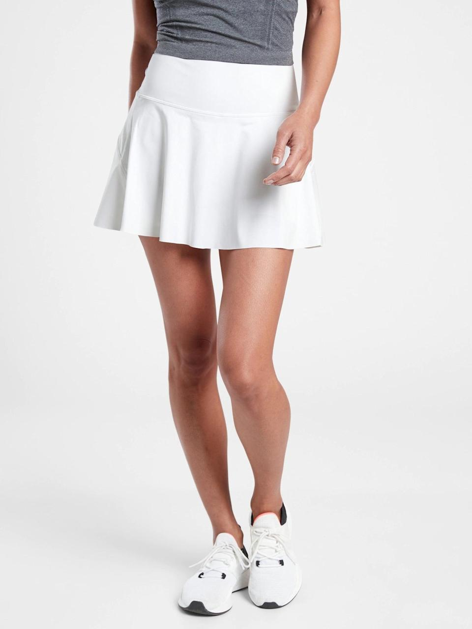 <p>Serve it up in this adorable, easy to move in <span>Athleta Ace Tennis Skort</span> ($69).</p>