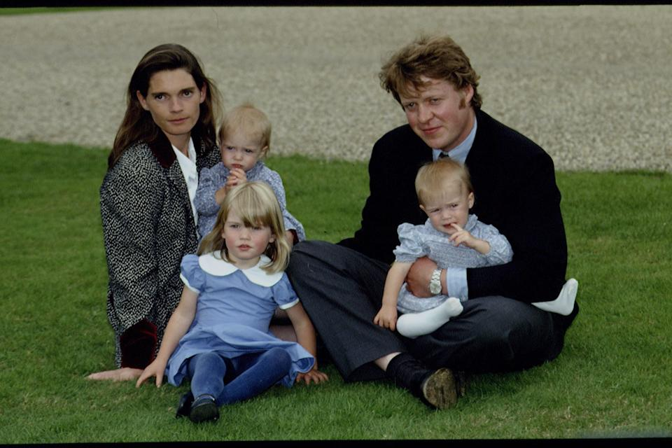 Viscount Althorp (earl Spencer) and his wife Victoria with their 3  daughters : Kitty Eleanor, Eliza Victoria and Katya Amelia, attending a horse show at Althorp house, Northamptonshire. (Photo by Mathieu Polak/Sygma/Sygma via Getty Images)