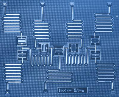 IBM scientists have developed a new approach to simulate molecules on a quantum computer that may one day help revolutionize chemistry and materials science. The scientists successfully used six qubits on a purpose-built seven-qubit quantum processor to address the molecular structure problem for beryllium hydride (BeH2) – the largest molecule simulated on a quantum computer to date. The results demonstrate a path of exploration for near-term quantum systems to enhance our understanding of complex chemical reactions that could lead to practical applications. (Kandala et al.; Nature) (PRNewsfoto/IBM)