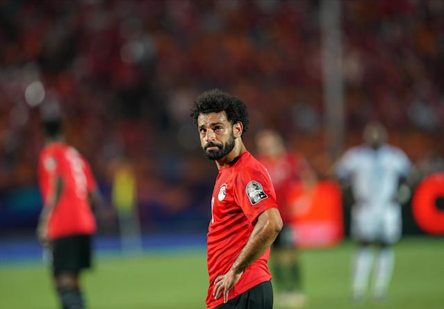 Mohamed Salah is under fire for supporting a teammate accused of sexual harassment after earlier remarks that men should treat women better. (Photo by Ulrik Pedersen/NurPhoto via Getty Images)