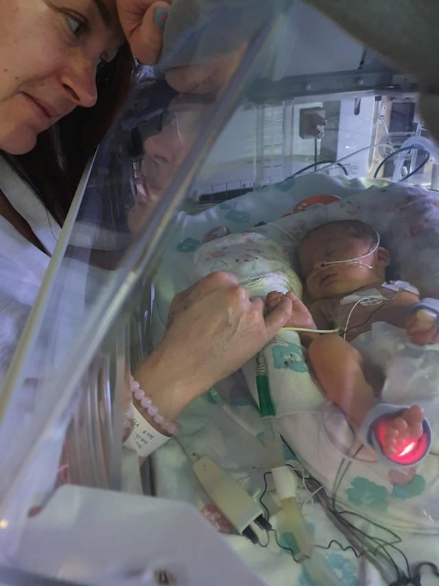Little Robyn spent 11 days in intensive care. (SWNS)