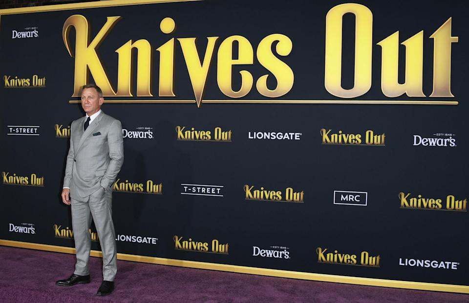 """Daniel Craig at the """"Knives Out"""" premiere"""