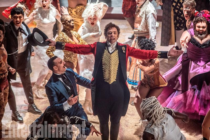 Hugh Jackman is PT Barnum in 'The Greatest Showman' (credit: 20th Century Fox/EW)