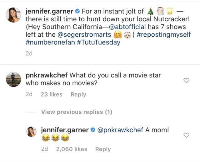 Jennifer Garner comment
