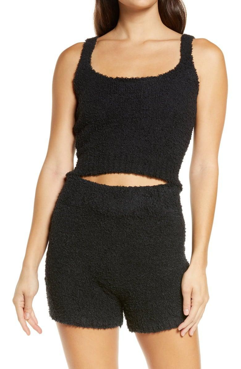 <p>This <span>Skims Cozy Knit Tank</span> ($52) and <span>Shorts</span> ($58) will be the gift of the season.</p>