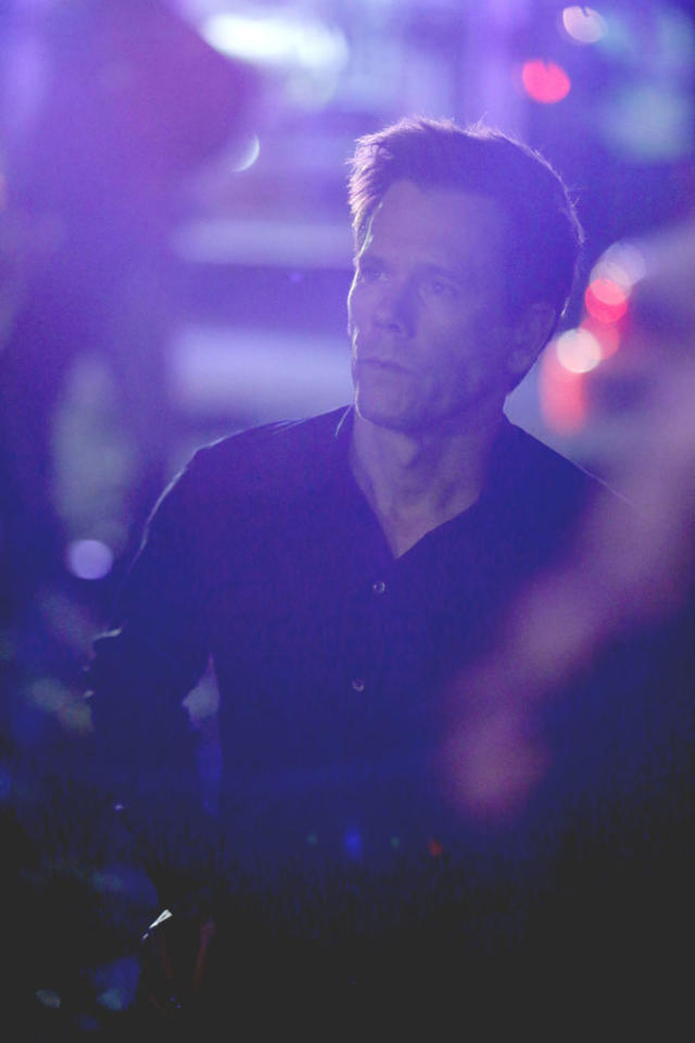 "Ryan Hardy (Kevin Bacon) tries to track down Joe Carroll's followers in the ""The Fall"" episode of ""The Following."""