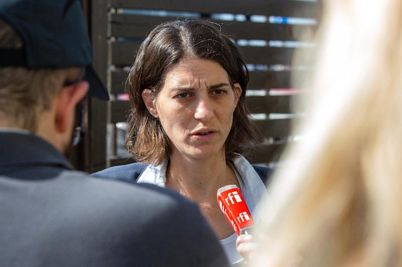 Yuli Novak, Executive Director of Israeli NGO Breaking the Silence, attends a press conference on February 05, 2016 in Tel Aviv