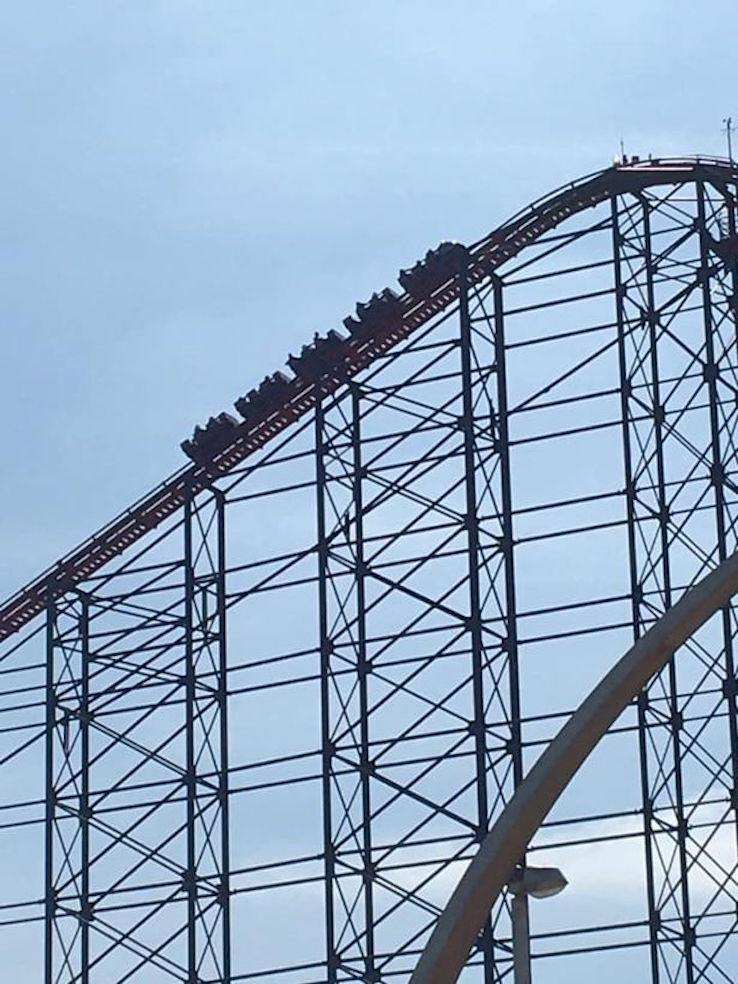 The Big One rollercoaster in Blackpool broke down on Sunday. (Reach)