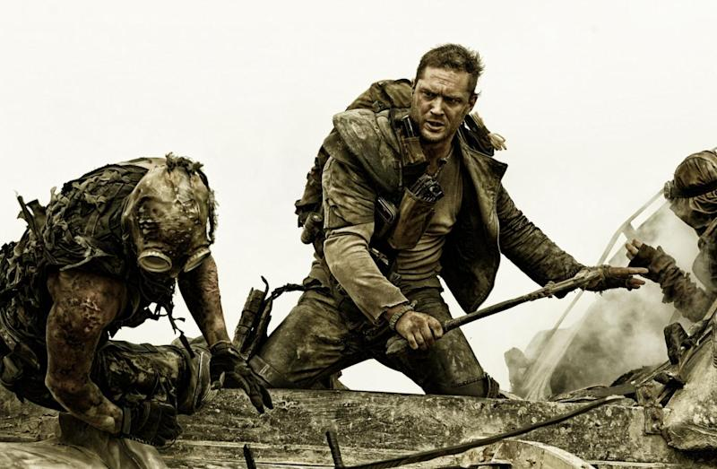 The Mad Max films portray a dystopian society, with Tom Hardy starring in the most recent (Warner Bros)