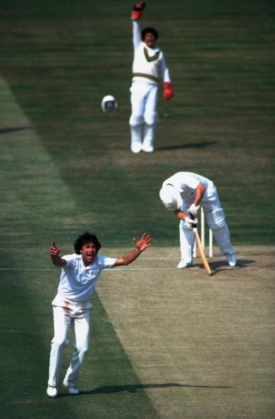 Undated:  Imran Khan of Pakistan and Sussex in action during a match. \ Mandatory Credit: Adrian  Murrell/Allsport