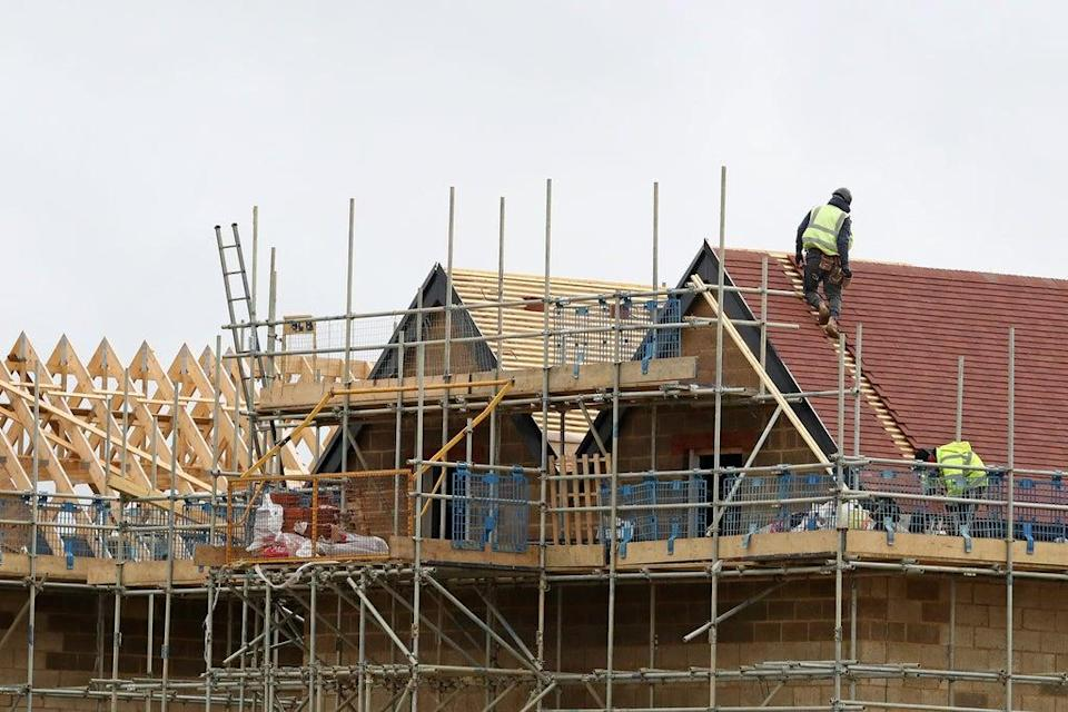 The number of new home builds started in England between April and June was down by 5% compared with the previous quarter, according to Government figures (Gareth Fuller/PA) (PA Archive)