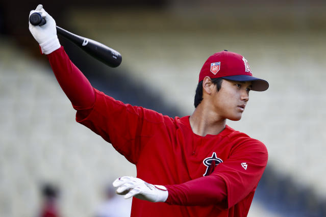 "You can put Ohtani in the outfield for a full game in ""MLB: The Show 18,"" but it takes some work. (AP Photo)"