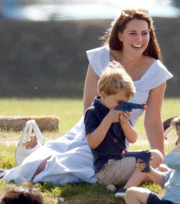 Prince George and his friends were photographed playing with an array of toys, including plastic guns [Photo: Getty]