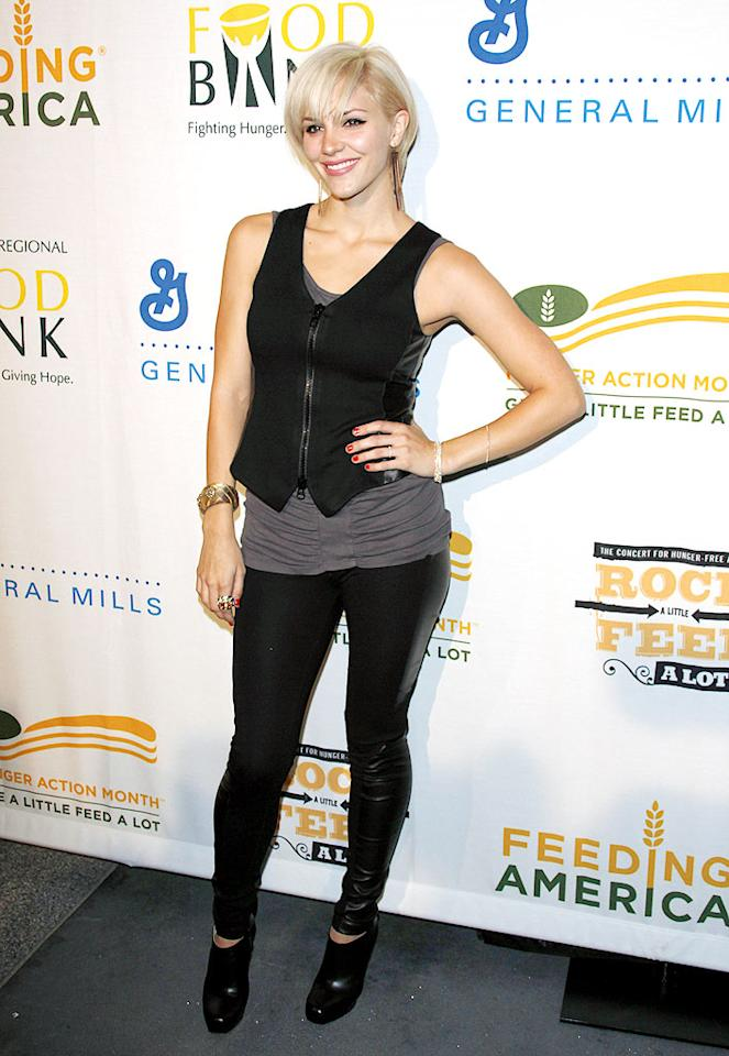 """Katharine McPhee's platinum coif ... cute or catastrophic? Jean Baptiste Lacroix/<a href=""""http://www.wireimage.com"""" target=""""new"""">WireImage.com</a> - September 29, 2009"""