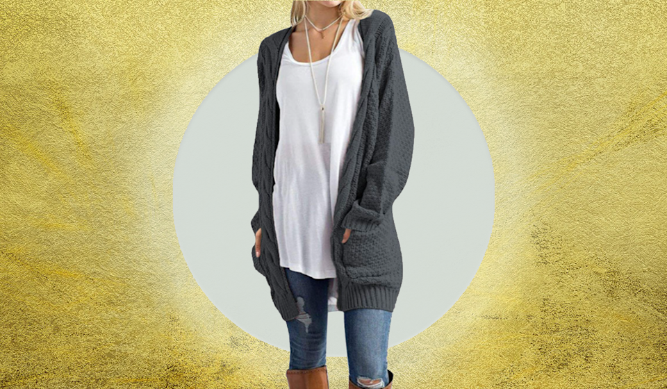 You'll live in this luxe cardigan. (Photo: Amazon)