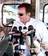 Richard Childress met with the media on Friday at Pocono Raceway, but took no quesitons