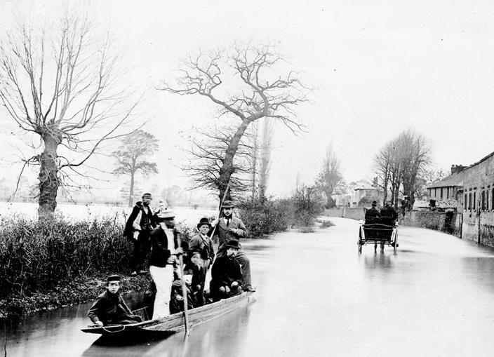 Flooding on Abingdon Road in October 1875