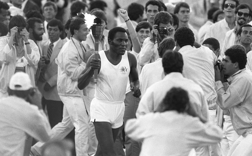 An American icon in the truest sense, Rafer Johnson won the decathlon at the 1960 Rome Olympics, played basketball for John Wooden at UCLA, appeared in movies alongside Elvis Presley and Frank Sinatra, and is widely known for subduing Robert Kennedy's assassin at the Ambassador Hotel in 1968. Johnson lobbied to bring the Olympics to Los Angeles in 1984, lighting the flame for the Games inside the Coliseum, and was on the organizing committee for the first Special Olympics. He also worked with the American Red Cross, March of Dimes, Muscular Dystrophy Association and the Peace Corps in addition to being a telecom executive. Johnson was 86.