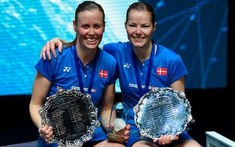 <span>Danish badminton player Kamilla Rytter Juhl stepped back from her sport since having a child with her doubles partner Christinna Pedersen</span> <span>Credit: AFP </span>