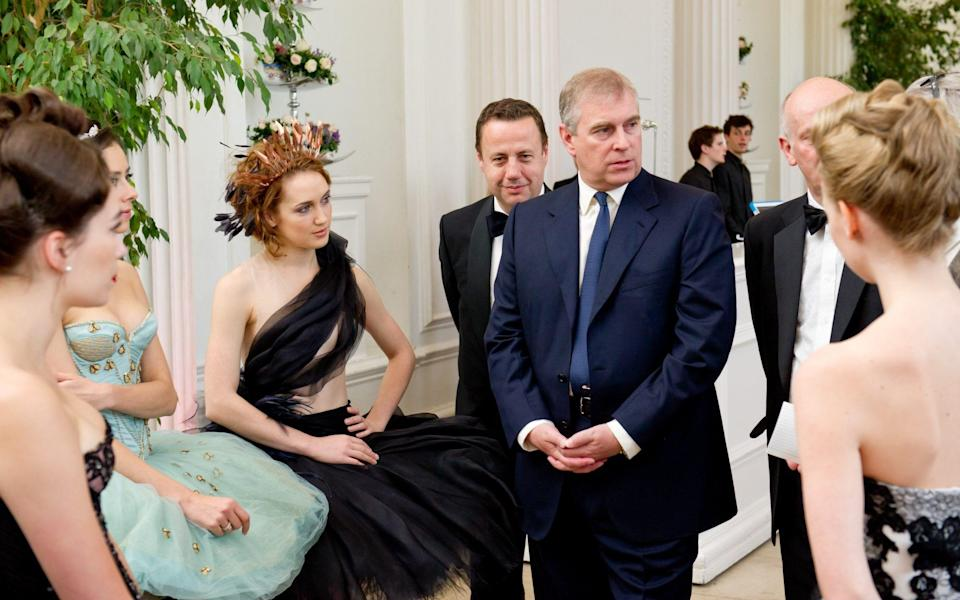 Prince Andrew, Duke of York is introduced to ballerinas by Managing Director Craig Hassall at the English National Ballet's summer party - Ian Gavan/Getty Images Europe