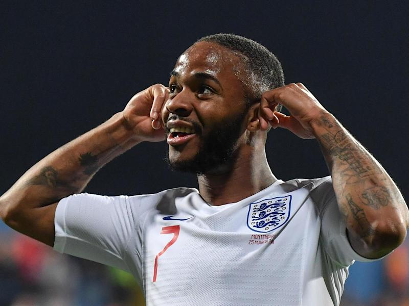 England's Raheem Sterling responds to racist abuse in win over Montenegro: AFP/Getty Images