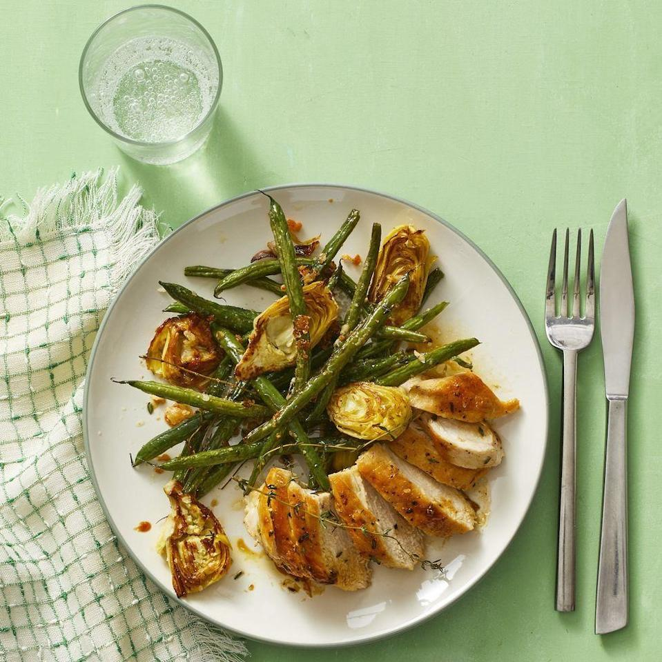 "<p>Chicken is a solid component of a heart-healthy diet, but that doesn't mean it has to be boring. This classic lemon-thyme chicken will be a flavorful choice you come back to again and again. </p><p><strong><em><a href=""https://www.womansday.com/food-recipes/a32303951/lemon-thyme-chicken-recipe/"" rel=""nofollow noopener"" target=""_blank"" data-ylk=""slk:Get the Lemon-Thyme Chicken recipe."" class=""link rapid-noclick-resp"">Get the Lemon-Thyme Chicken recipe. </a></em></strong></p>"