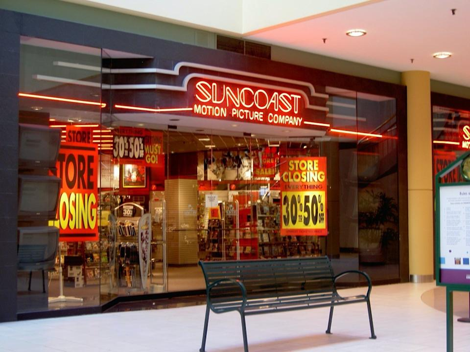 Suncoast Motion Picture Company storefront