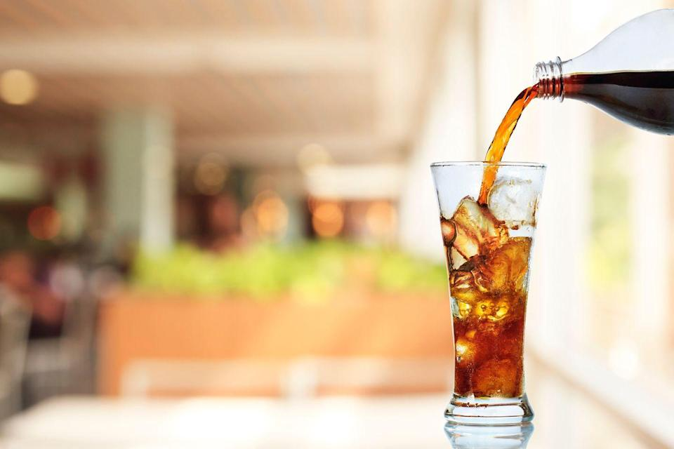 <p>It's a popular choice to give up bubbly beverages, but if your vice is iced tea or juice, try out switching to water with every meal.</p>