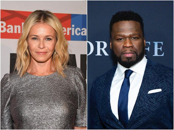 Chelsea Handler posted a series of tweets criticizing 50 Cent for supporting Donald Trump for president.